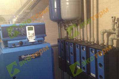 Отопление частного жилого дома 350 м2.